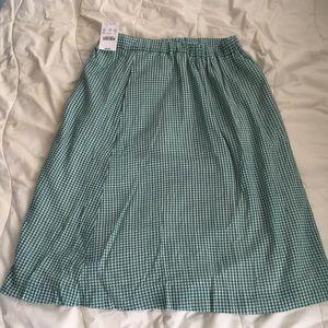 JCrew Gingham Skirt